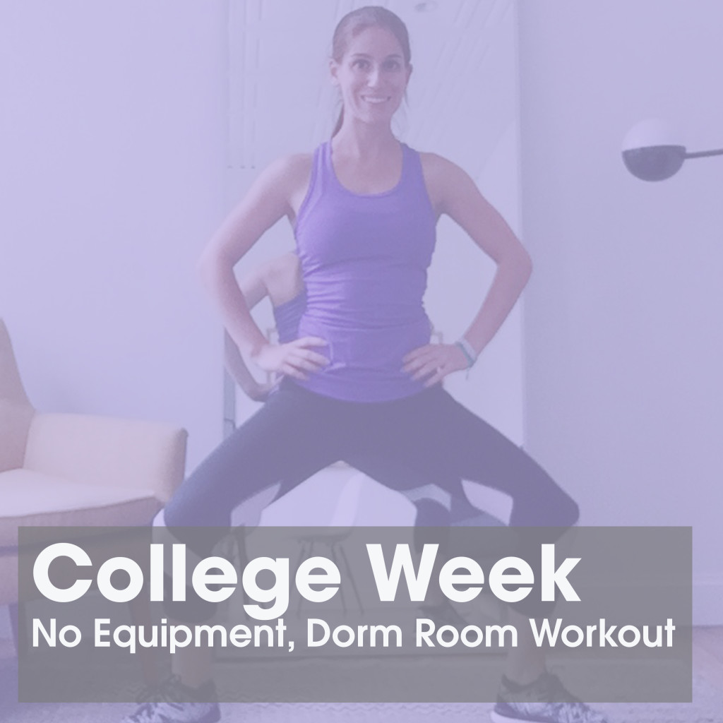 No Equipment Needed Dorm Room Workout Super Circuit Kayla In The City